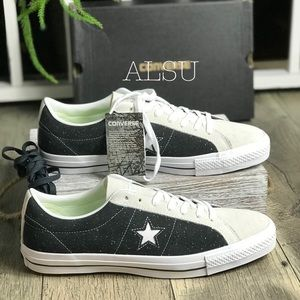 Converse One Star Pro OX Black White Suede M AUTHE